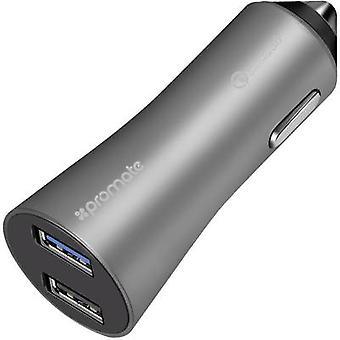 Pro Mate Robust-QC3 grey Robust-QC3grey USB charger Car, HGV Max. output current 4800 mA 2 x USB 3.0 port A, USB