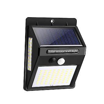 100 led solar pir motion sensor safety outdoor garden wall light