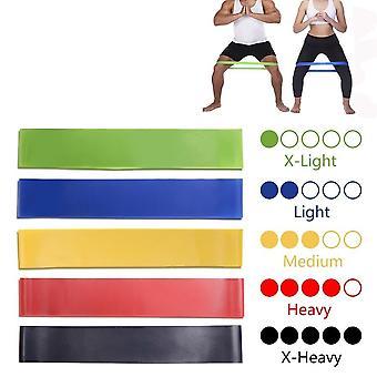 5 kleuren Yoga Weerstand elastiekjes voor indoor / outdoor fitnessapparatuur