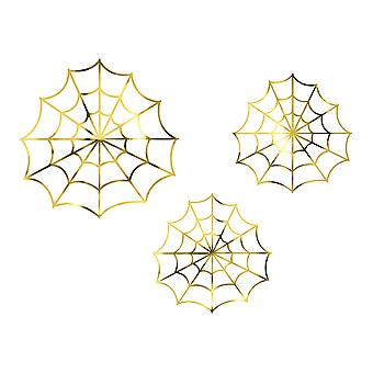 Gold Spiderwebs Halloween Decorations