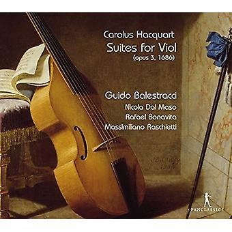 Hacquart / Balestracci / Maso / Bonavita / Raschie - Suites for Viol [CD] USA import