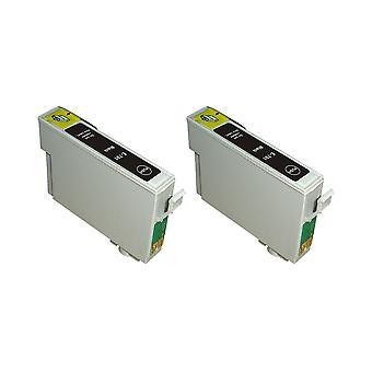 RudyTwos 2 x замена единицы чернил Epson сова черный совместимый с Stylus фото 79, 1400, 1410, 1500 Вт, P50, PX650, PX660, PX700W, PX710W, PX720WD, PX730WD, PX800, PX800FW, PX810FW, PX820FWD, PX830FW