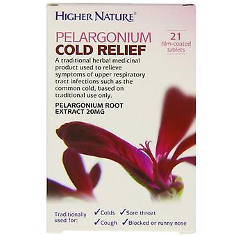 Higher Nature Pelargonium Cold Relief Tablets 21 (HEPC021T)