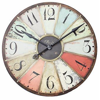 Retro Style Large Multicoloured Clock