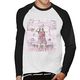 Pepsi Cola Vintage Car Girl Hommes Baseball Long Sleeved T-Shirt