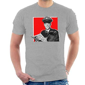 Elvis Presley firma autógrafos camiseta ejército uniforme Pop Art hombres