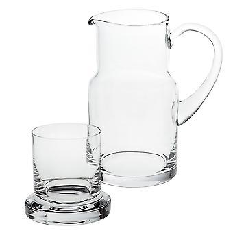 """8"""" Mundblæst Glas 2 Pc Bedside eller Desktop Carafe Set 24 ounce"""