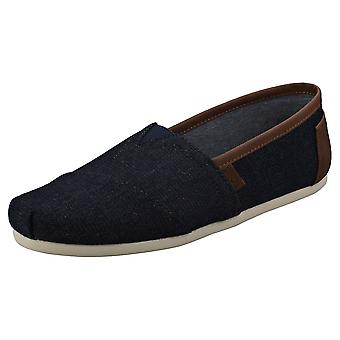 Toms Classic Trim Mens Slip On Shoes in Denim
