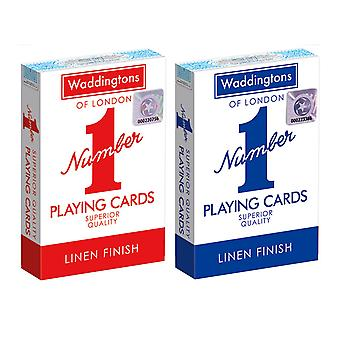 Twin Pack Waddingtons No.1 Playing Cards