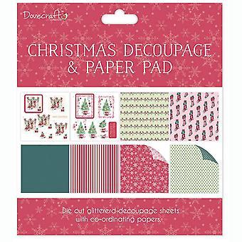 Dovecraft Christmas FSC Decoupage og Paper Pad Scener