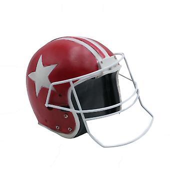 Football Helmet Model Resin Home Decoration Red