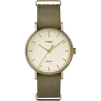 TW2P98500, Fairfield Timex Style Ladies Montre / Crème