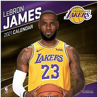NBA 30x30cm calendrier 2021 Los Angeles Lakers LeBron James