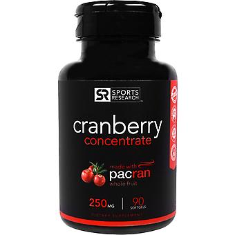 Sportonderzoek, Cranberry Concentrate, 250 mg, 90 Softgels