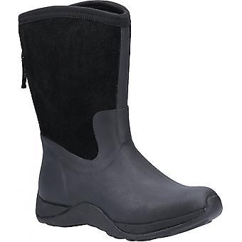 Muck Boots Muck Ladies Arctic Weekend Black Winter Fleece Lined Warm Zip Boots