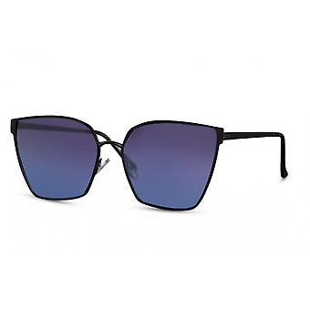 النظارات الشمسية المرأة فراشة كامل الحافة القط. 3 أسود / أزرق