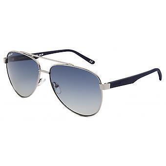 Sunglasses Unisex Aviator polarized silver/matt blue (P75648)