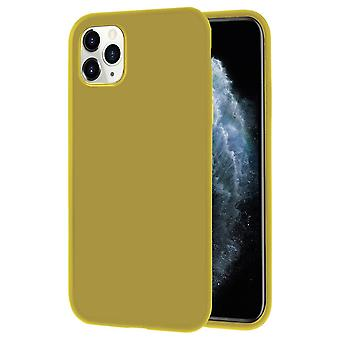 Soft Thin Mobile Shell for iPhone 11 Pro Lightly Solid Color Silicone Ultra-Slim Lemon