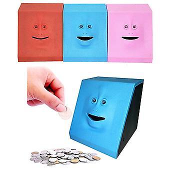 Cute Face Bank Money Safe Eats Sensor Coin Box For Money Saving