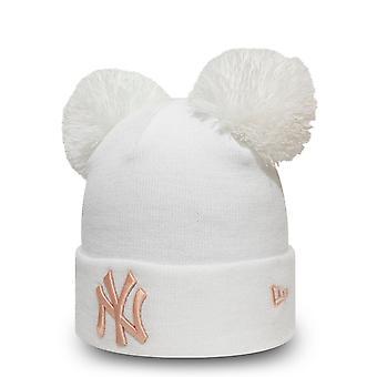 New era winter cap ladies Double Bobble Beanie - NY Yankees