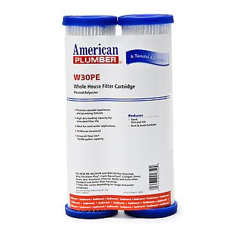 W30PE American Plumber Whole House Sediment Filter Cartridge (2-Pack)