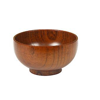 5-Inch Wooden Salad Bowls Hardwood Serving Bowl