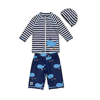 Bonverano Little Boys UPF 50+ Sun Protection Long Sleeves Maillots de bain Ensembles