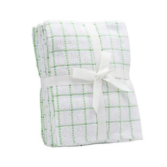 Sensio Home 100% Natural Cotton Terry Tea Towels | Super Absorbent | Lint & Streak free | Ultra Soft 290 GSM Thick Vintage Kitchen 5 Pack 45 x 65cm (Green)