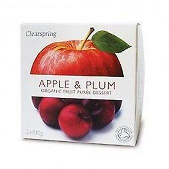 Clearspring - Fruit Puree Apple & Plum 2 X100g
