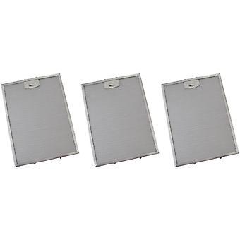 3 x Universal Cooker Haube Metall Fettfilter 260mm x 351mm