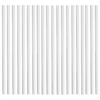 Rink Drink Biodegradable Paper Drinking Straws - Solid White - Pack of 25