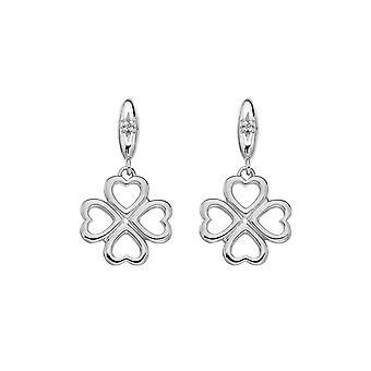 Hot Diamonds Sterling Silver Lucky In Love Drop Oorbellen DE634