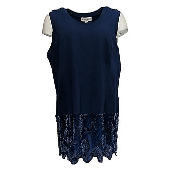 Kathleen Kirkwood Women's Plus Top Layering Tank Velvet Blue A369104