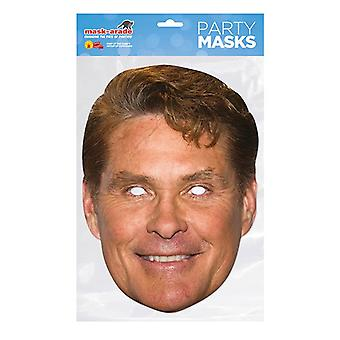 Mask-arade David Hasselhoff Celebrities Party Face Mask