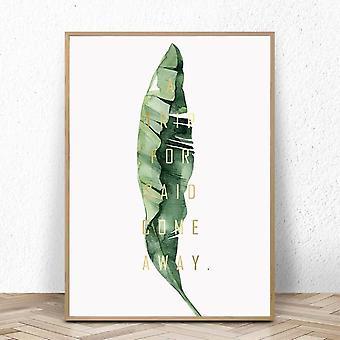 Wand-Kunst-Leinwand-Malerei - grüner Stil Pflanze, nordische Poster und Drucke