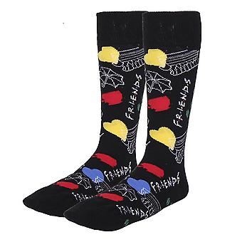 Women's Friends Icons All Over Print Crew Socks