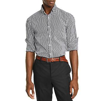 Straight-cut striped shirt