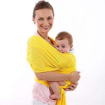 Spädbarn Sling Soft Natural Wrapbärselryggsäck, ventilerande bomull