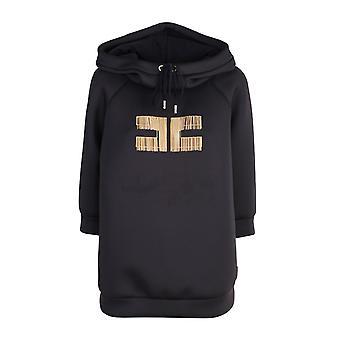 Elisabetta Franchi Md04006e2110 Women's Black Cotton Sweatshirt