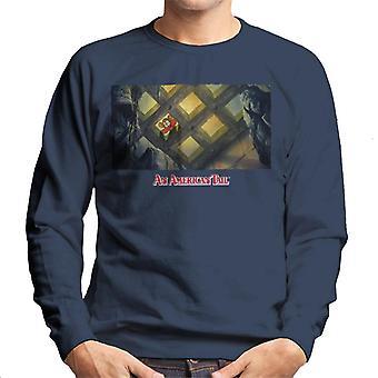 en amerikansk hale fieval ser ned distressed menn's sweatshirt