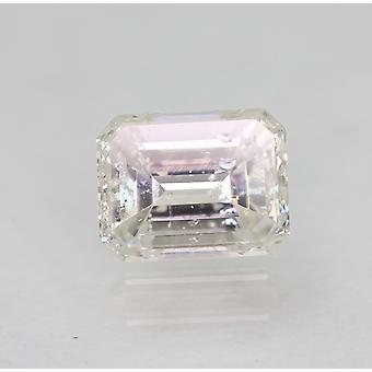 Gecertificeerde 0.40 Karaat F SI1 Emerald Enhanced Natural Loose Diamond 4.72x3.68mm