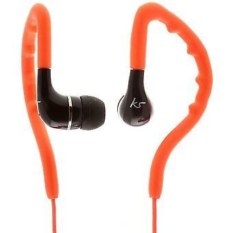 KitSound Enduro Sports Headphones - Résistant à l'eau et à la sueur, oreille-crochet - Orange