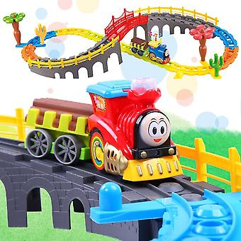 Kids Toy Electric Train Toy Set's Model's Train With Tracks Toy Free Shipping