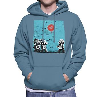 Pflege Bären Liebe Herz Wand Männer's Kapuzen Sweatshirt