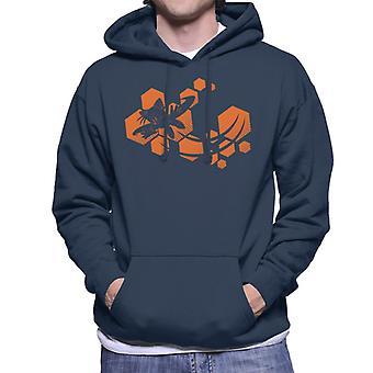 Sonic The Hedgehog Tails Orange Hexagon Men's Hooded Sweatshirt