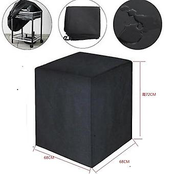 Square Bbq Grill Cover Oven Cloth Cover Protective Dustproof And Rainproof Cloth Cover Outside Black And Silver