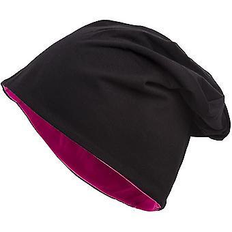 2-kleuren zwart-roze lange trui muts unisex