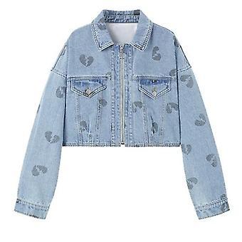 Dámske streetwear džínsy kabát