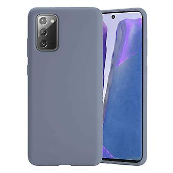 HATOLY Samsung Galaxy A70 Silicone Case - Soft Matte Case Liquid Cover Gray
