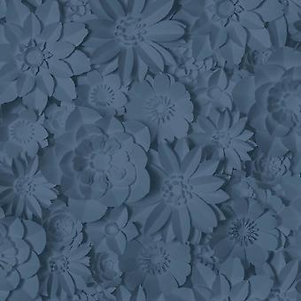 Dimensiones de la decoración fina Floral Navy Wallpaper
